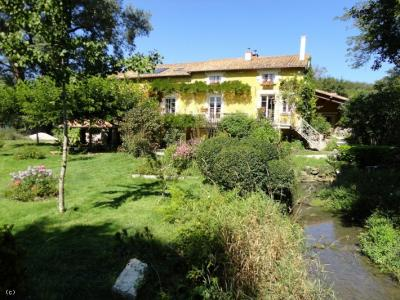 Watermill House With 8 Hectares, Lake And River Frontage