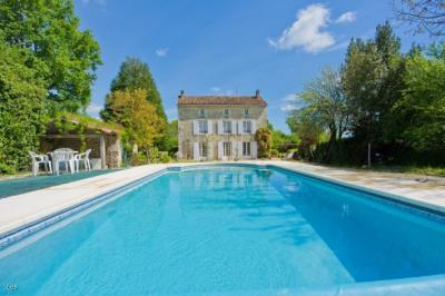 Manor House With A Pool, Land and Woodland